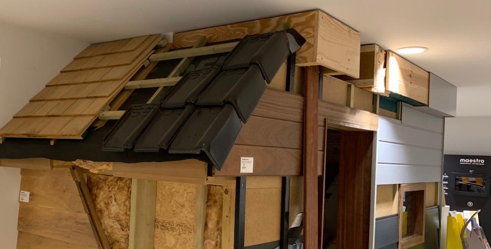 Houten dak houtskelet