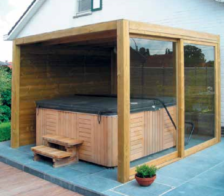 wellnessruimte in hout